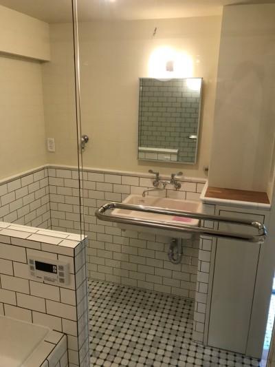 洗面室 (「割り箸の袋」まで許容した(?)遊びゴコロが自慢です~A様邸~)