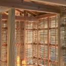 愛知の土壁[工事中]の写真 シュロ縄で編まれた竹小舞