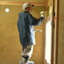 愛知の土壁[工事中]の写真 中塗りの様子