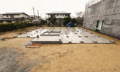 静岡の石場建て[工事中] (石場建ての基礎)