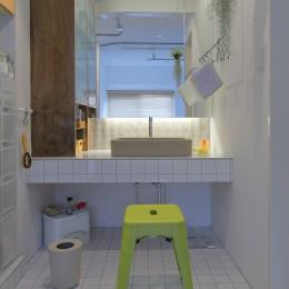 北摂のマンション (洗面)