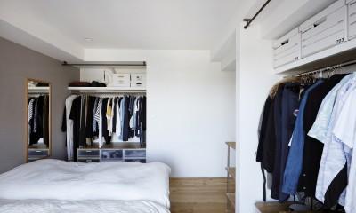 無駄のない収納があるベッドスペース|今まで、イマ、これから