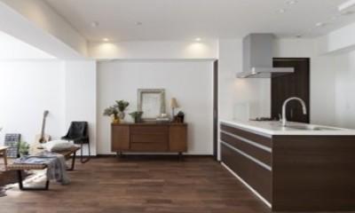 LDK|「中古マンション」のイメージを覆す天然無垢材のリビング~R様邸~