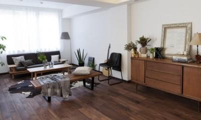リビング|「中古マンション」のイメージを覆す天然無垢材のリビング~R様邸~