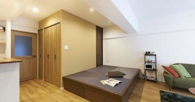 畳コーナー (畳とヘリンボーンの共演! 趣味を詰め込んだ男の部屋~T様邸~)