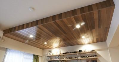 ダイニング天井 (畳とヘリンボーンの共演! 趣味を詰め込んだ男の部屋~T様邸~)