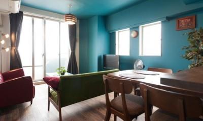 リビングダイニング|壁と床だけでこれだけ変わる! アイデアあふれる築浅リノベ~K様邸~