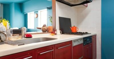キッチン (壁と床だけでこれだけ変わる! アイデアあふれる築浅リノベ~K様邸~)