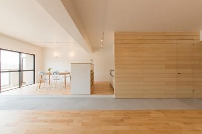 米子のマンションリノベーション (ダイニングキッチン・土間)