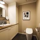 A邸_エンシェント・モダンな暮らしの写真 トイレ