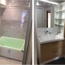 シミュレーションを重ねて吟味した「時間を有効に使える家」~F様邸~の写真 バスルームと洗面室
