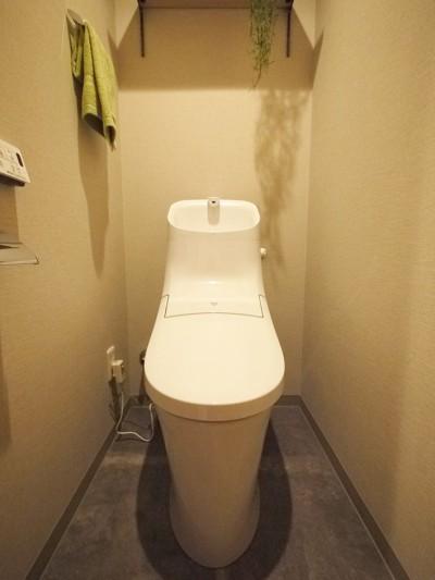 トイレ (折り上げ天井と間接照明のリビング)