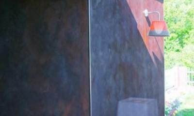 「錆の家」和泉市の戸建てリノベーション (錆の壁)