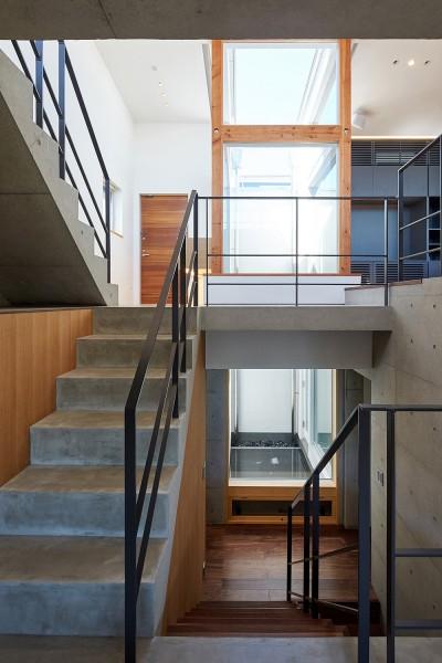 階段 (丘の上の家)