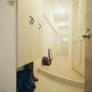 曲線のある玄関/玄関ホール