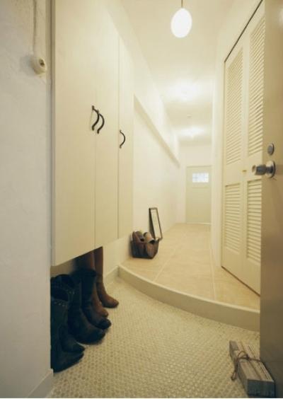 曲線のある玄関/玄関ホール (リノベーション / courbe)
