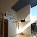 【Trilogy (三部作) − 西の家】  3区画の分譲地を統一デザインの写真 リビング