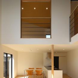 【Trilogy (三部作) − 西の家】  3区画の分譲地を統一デザイン (ダイニング)