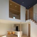 【Trilogy (三部作) − 西の家】  3区画の分譲地を統一デザインの写真 リビングダイニング
