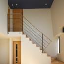 【Trilogy (三部作) − 西の家】  3区画の分譲地を統一デザインの写真 階段