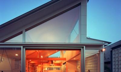 【本駒込の家】 短冊敷地を生かす中庭とデッキ