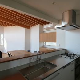 【Trilogy−北の家】 3つの分譲宅地で1つの世界をつくる (キッチン)