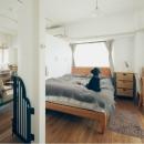 大きな一つの空間/ベッドルームとリビングダイニング
