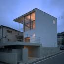 【スキップテラスの家】  テラスの段差が生み出す、外部空間の変化の写真 外観