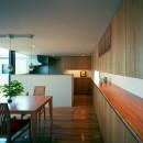【スキップテラスの家】  テラスの段差が生み出す、外部空間の変化の写真 ダイニング