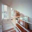 【トライアングル・ハウス】 空間に変化を生み出す三角形平面の写真 リビング・吹抜