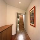 【トライアングル・ハウス】 空間に変化を生み出す三角形平面の写真 玄関