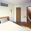 【トライアングル・ハウス】 空間に変化を生み出す三角形平面の写真 ベッドルーム