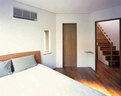 ベッドルーム (【トライアングル・ハウス】 空間に変化を生み出す三角形平面)