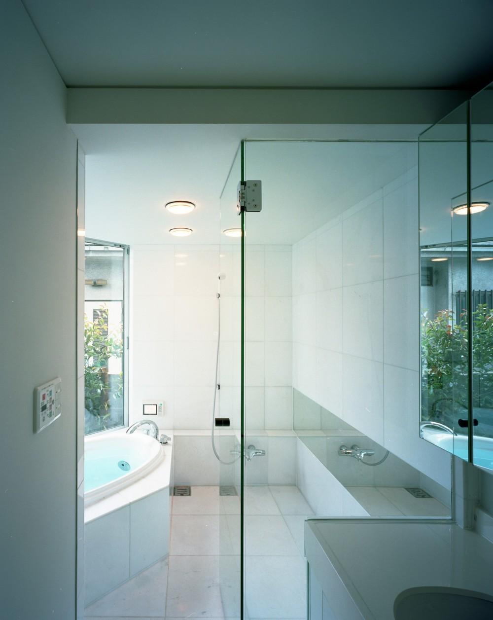 【トライアングル・ハウス】 空間に変化を生み出す三角形平面 (浴室・洗面)