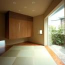 【トライアングル・ハウス】 空間に変化を生み出す三角形平面の写真 和室