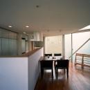 【トライアングル・ハウス】 空間に変化を生み出す三角形平面の写真 ダイニング