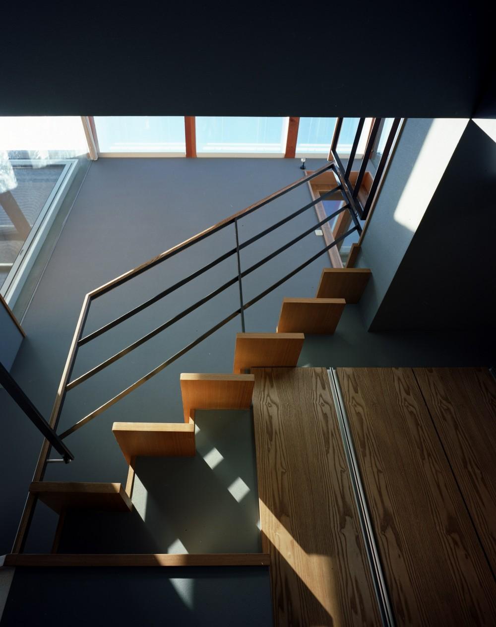 【光渓の家】  家の中央を貫く光 (階段)
