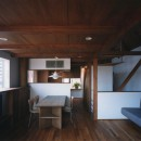 【市川の家】 光を求めて空へとのびるOMソーラーの家の写真 リビングダイニング