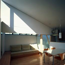 【宙空のコートハウス】 壁に囲まれたプライバシー完全な家