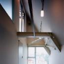 狭小傾斜変形地を生かした家の写真 子供室