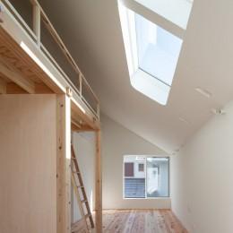 椿庵 ― 茶室のある旗竿敷地の住宅 ― (トップライトの光を拡散するサンルーム)
