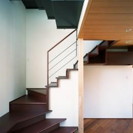 【ブーメラン・プランの家】 「へ」の字型のプランから広がる世界 (階段)