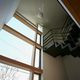 【ブーメラン・プランの家】 「へ」の字型のプランから広がる世界 (階段・吹抜)