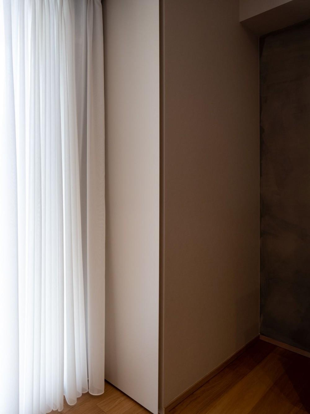 褪光の家 (壁と一体化した収納)