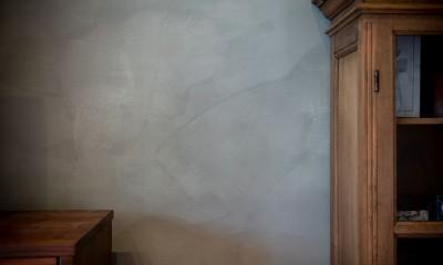 褪光の家 (壁のペイントの素材感)