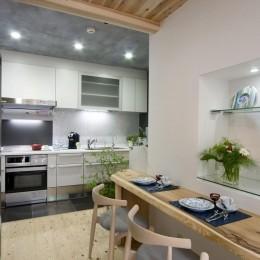 和カフェスタイルのダイニングキッチン (ダイニングキッチン)