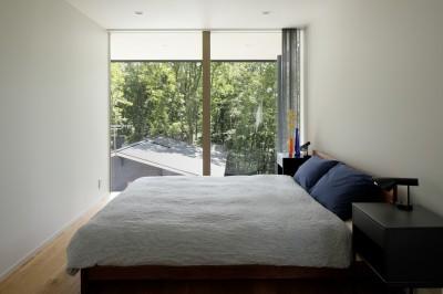 寝室 (062m-house in 軽井沢)