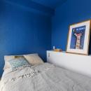 七味—制約のある物件で実現した、やりたいことがギュッと詰まった暮らしの写真 ベッドルーム