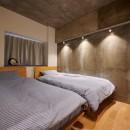 粗面RCの家の写真 寝室
