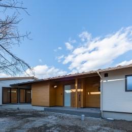 DIYで作る和の平屋住宅 (木目を活かし自然と調和した外観)